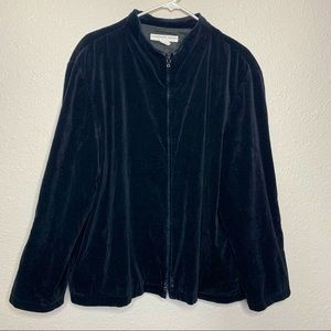 Suede black Jacket with double zippers